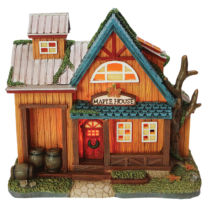 Maison Village Noel CAROLE TOWNE Maple House for Christmas Village   Polyresin NM