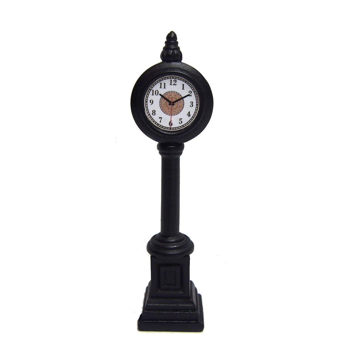 "Clock for Christmas Village - 4.2"" - Black"