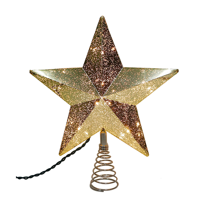 "Holiday Living Christmas Tree Topper - Star - 11"" - Plastic"