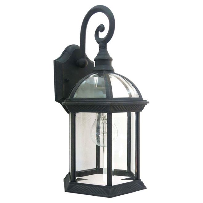 """Wall Lantern - 8 3/8"""" - Rusty Finish Flat Black"""