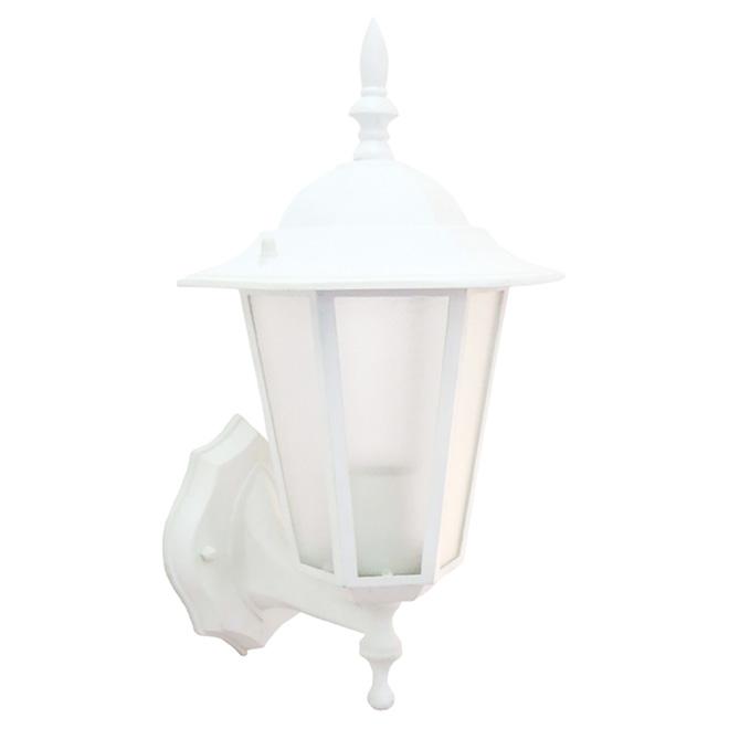 "Lanterne murale, 8 3/4"", blanc"