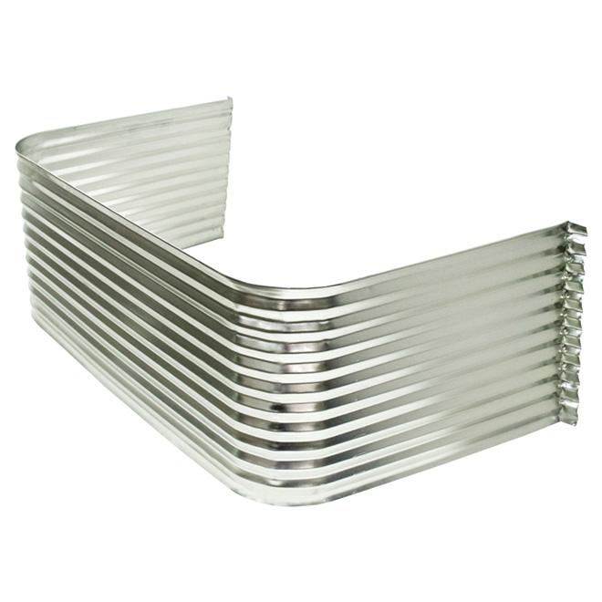 Margelle en acier galvanisé ondulé pour fenêtres de sous-sol