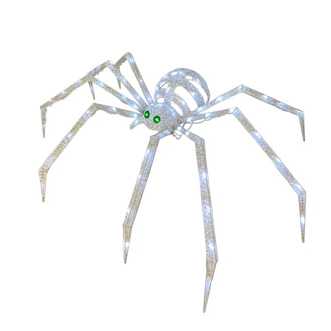 Sculpture d'araignée Holiday Living pour l'Halloween avec lumières DEL, 48 po