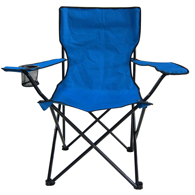 Chaise de camping pliante Style Selections, acier/polyester, bleu