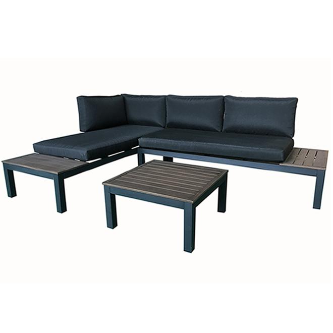 Mobilier extérieur, Style Selections, Maven, aluminium, 2 morceaux, noir