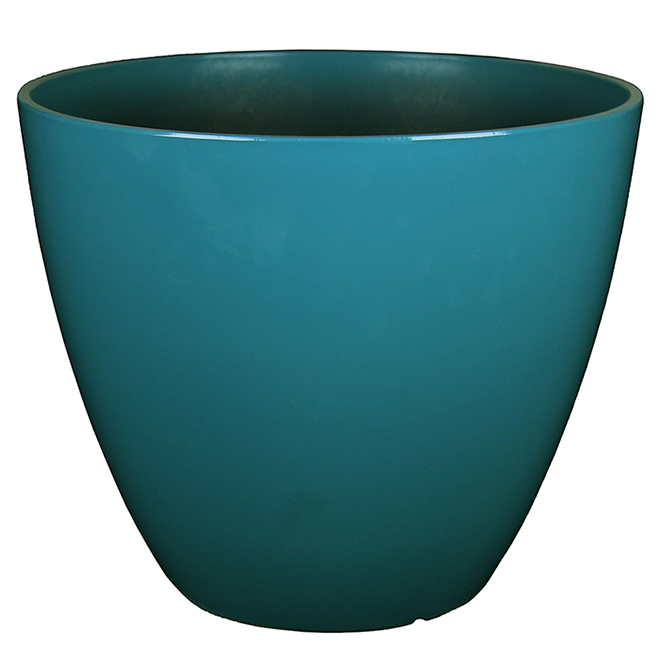 "Flower Planter - 14.1"" - City Oasis - Turquoise"