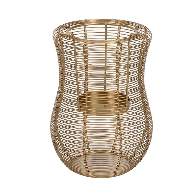 Lanterne Hurricane Allen + Roth, 9 po, acier doux, or