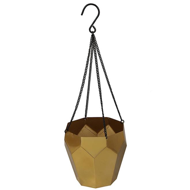 Jardinière suspendue octogonale Allen + Roth, métal, 6,2 po, or