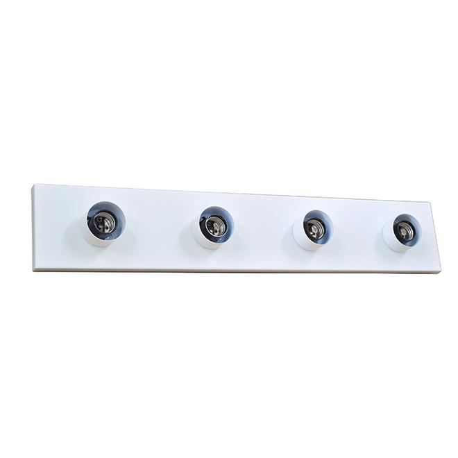 Luminaire pour meuble-lavabo traditionnel de Project Source, 4 lumières, 24 po, acier, blanc mat