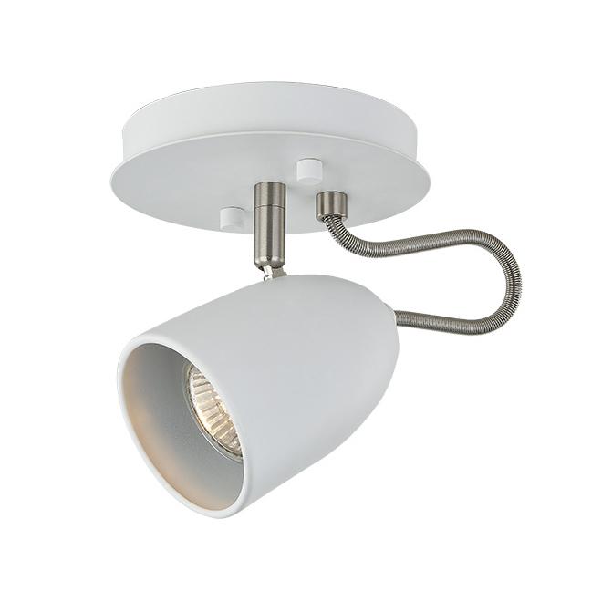 Plafonnier à 1 lumière, acier, blanc mat/chrome