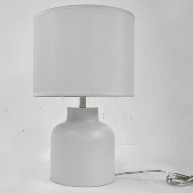 Lampe de table allen + roth, acier et tissu, 12 po x 18,9 po, blanc