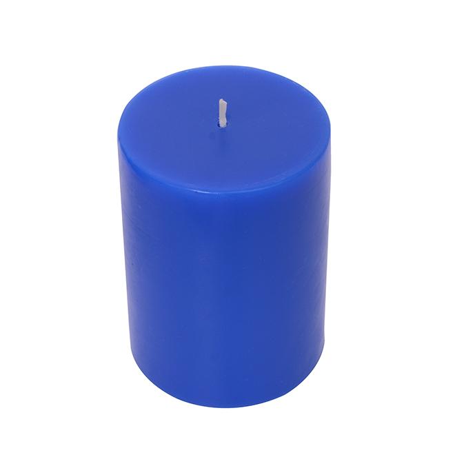 "Pillar Candle - 3"" x 4"" - Palm Paradise - Cobalt Blue"