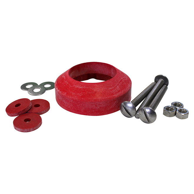 Ensemble de joint d'étanchéité pour réservoir Korky, rouge, caoutchouc, universel, diamètres de 3 1/2 po et de 2 1/8 po