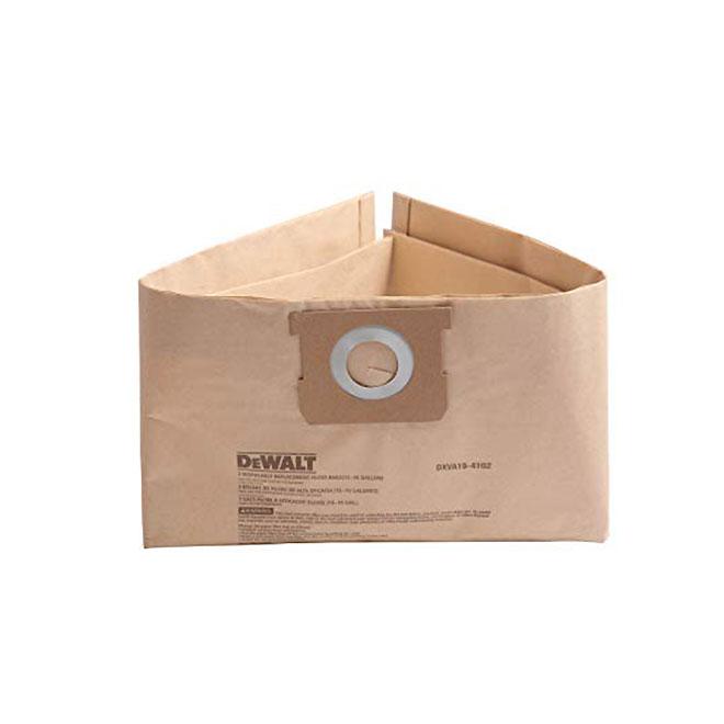 Sac d'aspirateur jetable, 12 à 16 gal, papier, brun