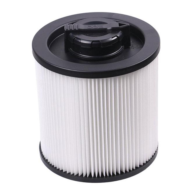Filtre à cartouche pour aspirateur par DeWalt, 6 à 16 gal, large, papier/plastique