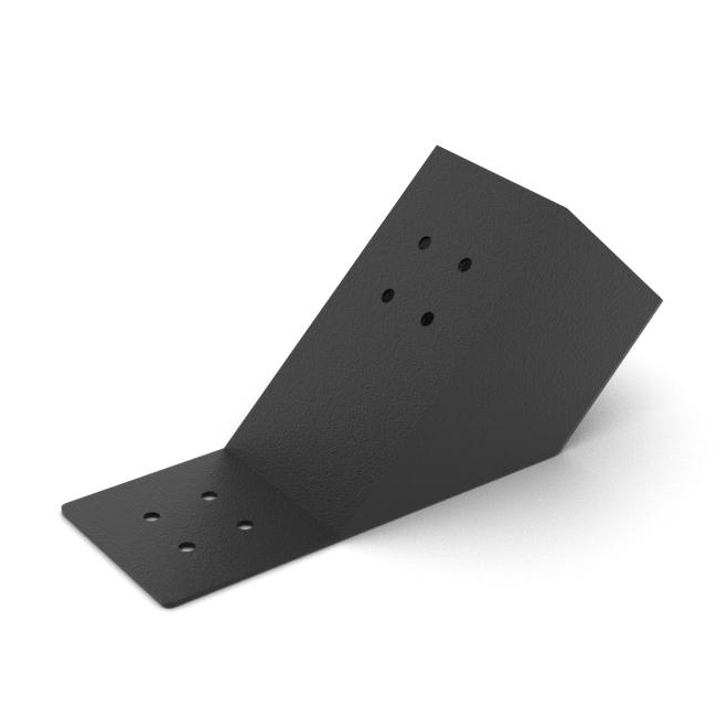 Support de genou à 45 degrés pour poteaux en bois 4 pi x 4 pi - paquet de 2 noir
