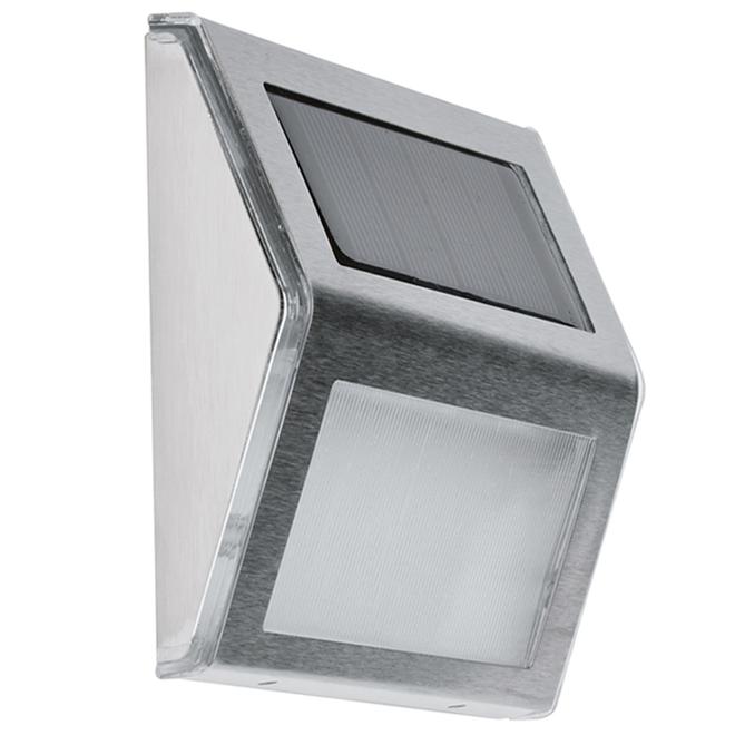 Lumières solaires en coin Fusion, DEL, 4 po x 4 po, acier inoxydable, paquet de 4