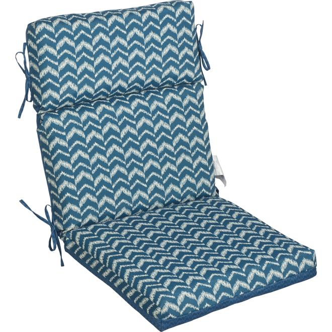 Garden Treasure Ikat Stripe Chair Cushion 44 X 21 X 4 Blue