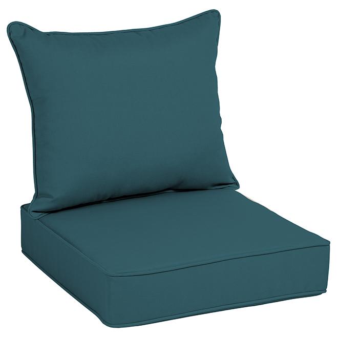 Allen+Roth Chair Cushion - High Back - Polyester - Blue