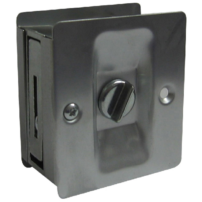 Poignée intimité pour porte escamotable par Concept SGA, chrome satiné