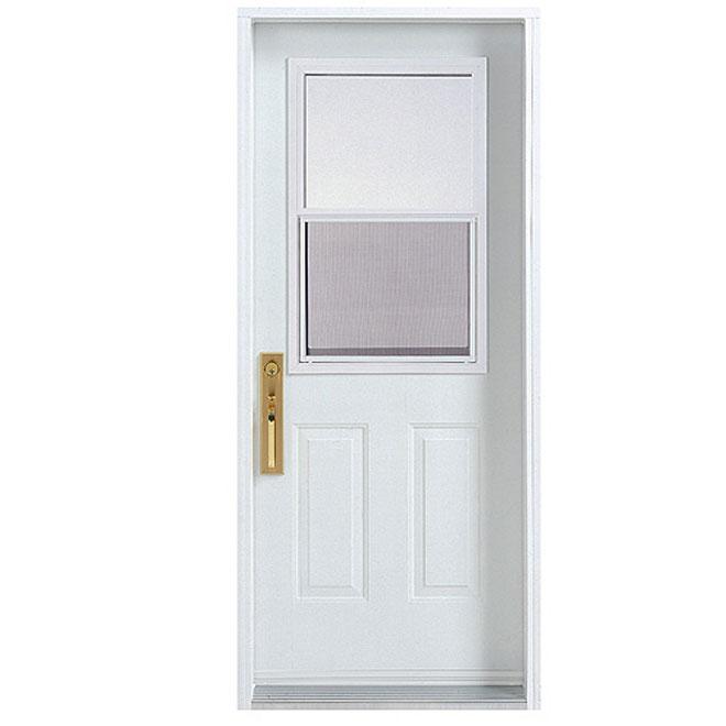 """Hung-Window Exterior Steel Door 30 x-80"""" - Left"""