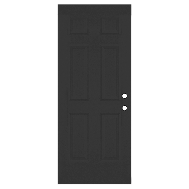 Melco Pre-Hung Steel Entry Door - Pre-Bored - Right-Hand Swing - Black - 34-in W x 80-in H