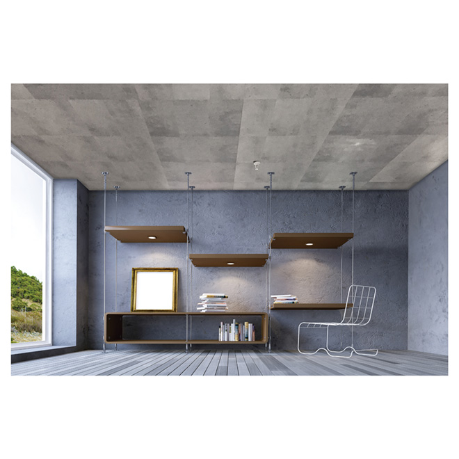 mur design tuile plafond effet b ton 2 39 x 4 39 boite de. Black Bedroom Furniture Sets. Home Design Ideas