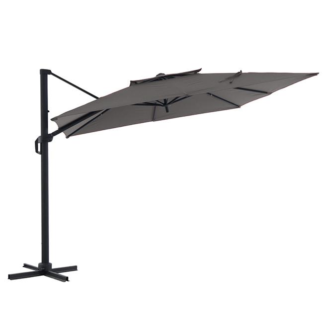 Offset Square Umbrella - Aluminum - 10' - Grey
