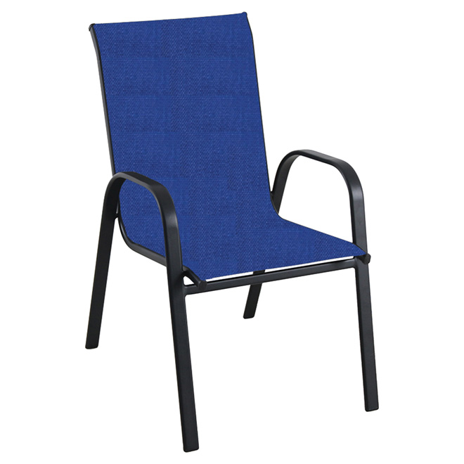 Stackable Patio Chair - Navy & Black