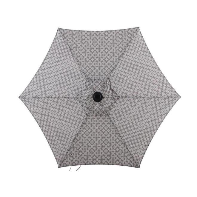 Style Selections Market Umbrella - 7.5-ft - Grey