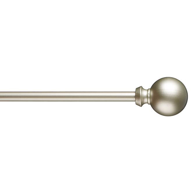 """Tringle à rideaux, sphères décoratives, 48""""-86"""", nickel brossé"""
