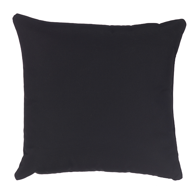 Sunbrella Cushion - Acrylic and Polyester - 20-in x 20-in - Black