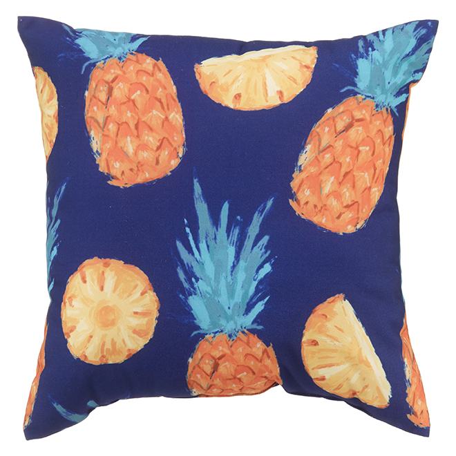 Style Selection Outdooor Cushion - 16-in x 16-in - Pineapple Print