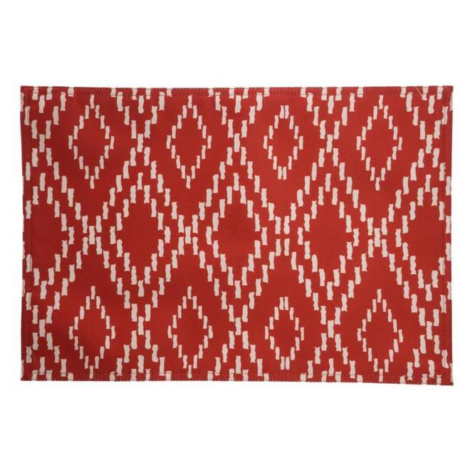 Napperon réversible allen + roth en polyester, 19 po x 13 po, rouge et blanc