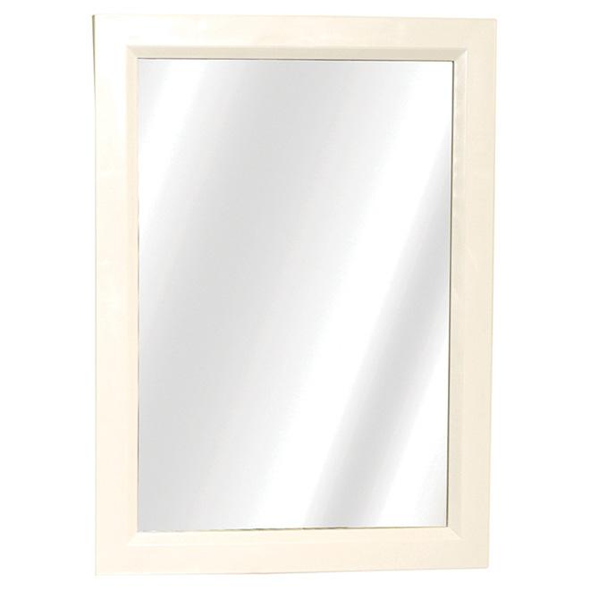 "Pharmacie avec miroir, Cadre blanc, 16.38"" x 22.38"" x 5"""
