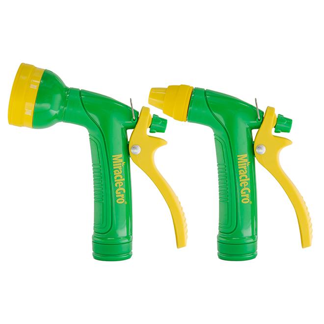 Ensemble de 2 pistolets d'arrosage, ABS, vert/jaune