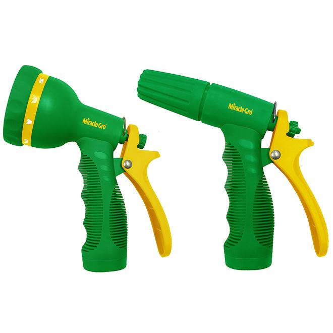 Pistolet d'arrosage, Miracle-Gro(MD), ajustable, abs, 2 mcx