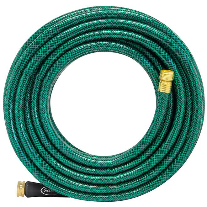Boyau d'arrosage Scotts(MD), résine de PVC, 50' x 5/8'', vert