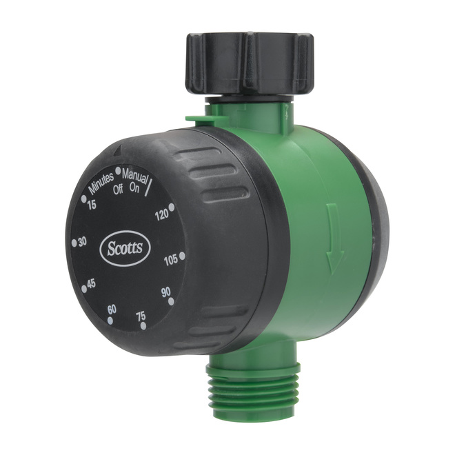 Scotts(R) Mechanical Water Timer - ABS - Black and Green
