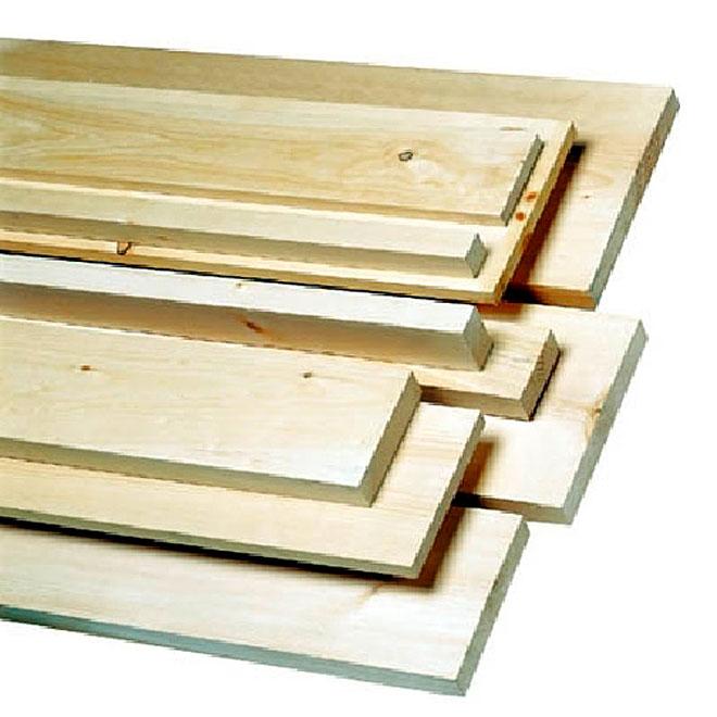 "White Pine - Knotty - 1"" x 5"" x 8'"