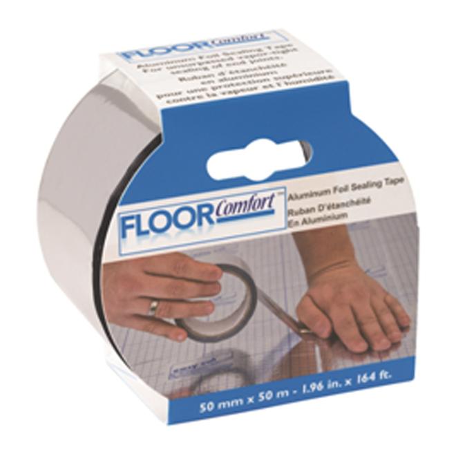 Ruban d'étanchéité en aluminium Floor Comfort Pak Lite, 1,96 po x 164 pi, isolation thermique, anti vapeur et humidité
