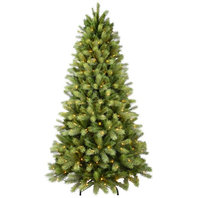 Arbre de Noël illuminé de 7 pi Holiday Living, 450 lumières DEL blanc chaud, 1472 branches