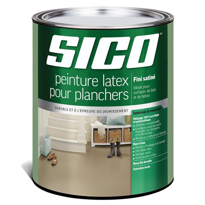 Base de peinture pour plancher, Sico, latex/acrylique, 899 ml, base 2