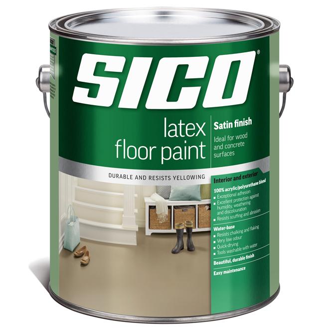 Sico - Floor Paint Base - Latex/Acrylic - Satin Finish - 3.5 L - Base 2