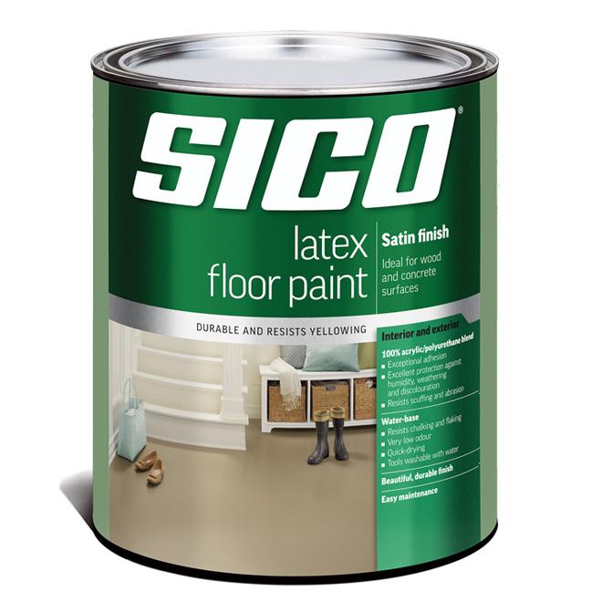 Sico - Floor Paint Base - Latex/Acrylic - Satin Finish - 946 mL - Base 3