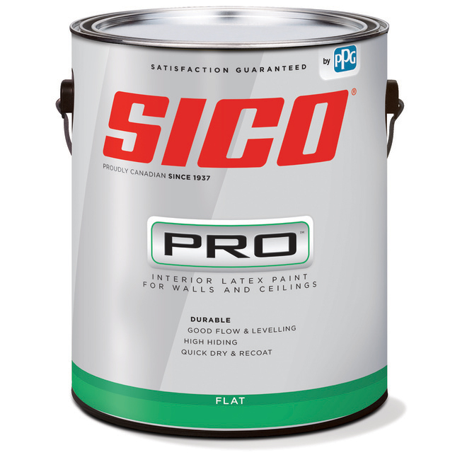 SICO Pro Interior Paint For Ceiling And Wall - Latex - 3.78-L - Flat Finish - White