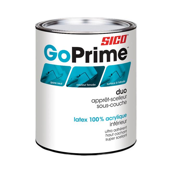 Apprêt-Scellant latex acrylique intérieur «Go Prime»