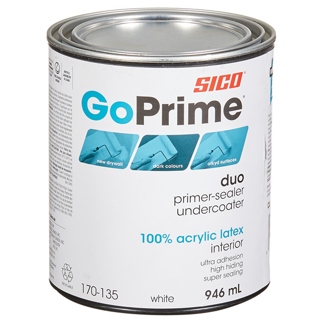 "Go Prime"""" Acrylic latex interior Primer-Sealer"