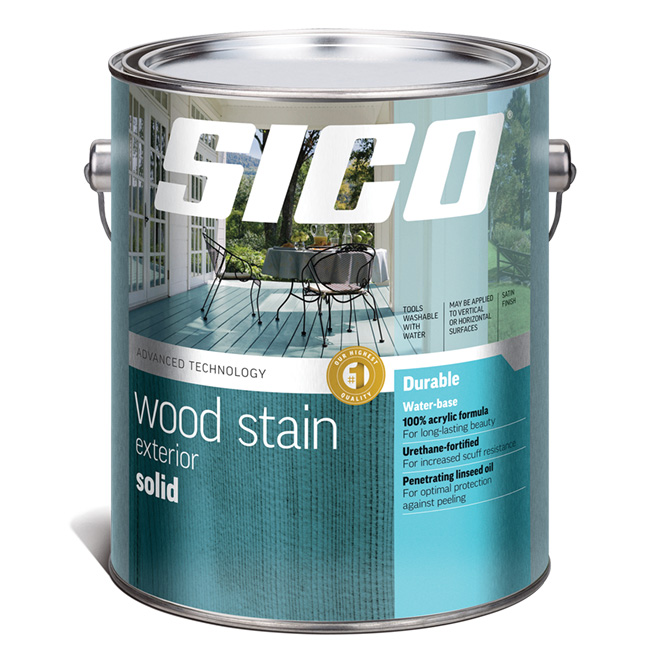 Sico Exterior Wood Stain - Solid - Neutral Base - 3.5 L