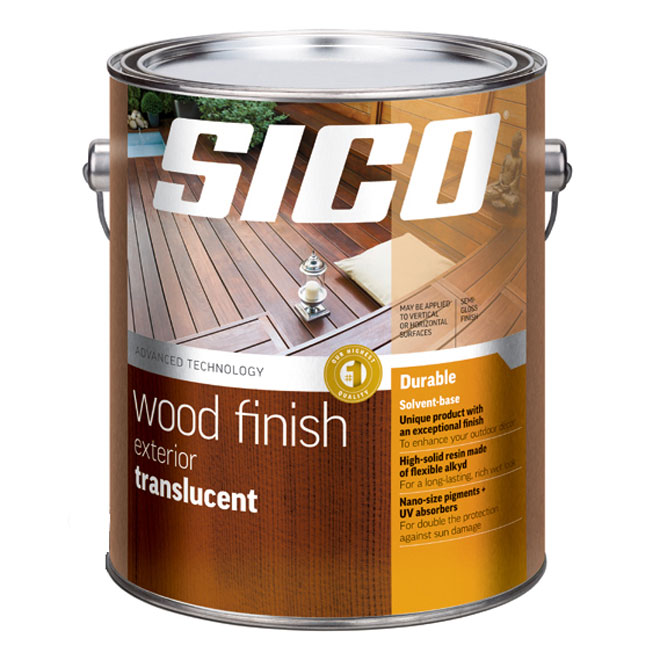 Sico Exterior Wood Finish - Transparent - Redwood - 3.78 L